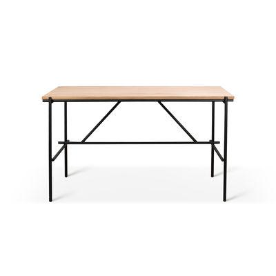 Mobilier - Bureaux - Bureau Oscar / Chêne massif & métal - 140 x 70 cm - Ethnicraft - L 140 cm / Chêne & noir - Chêne massif, Métal verni
