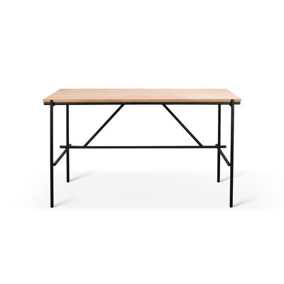 Bureau Oscar / Chêne massif & métal - 140 x 70 cm - Ethnicraft noir/bois naturel en bois