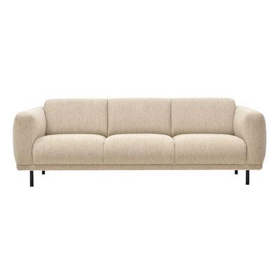 Canapé droit Teddy XL / L 218 cm - Tissu bouclette - Pols Potten blanc/beige en tissu