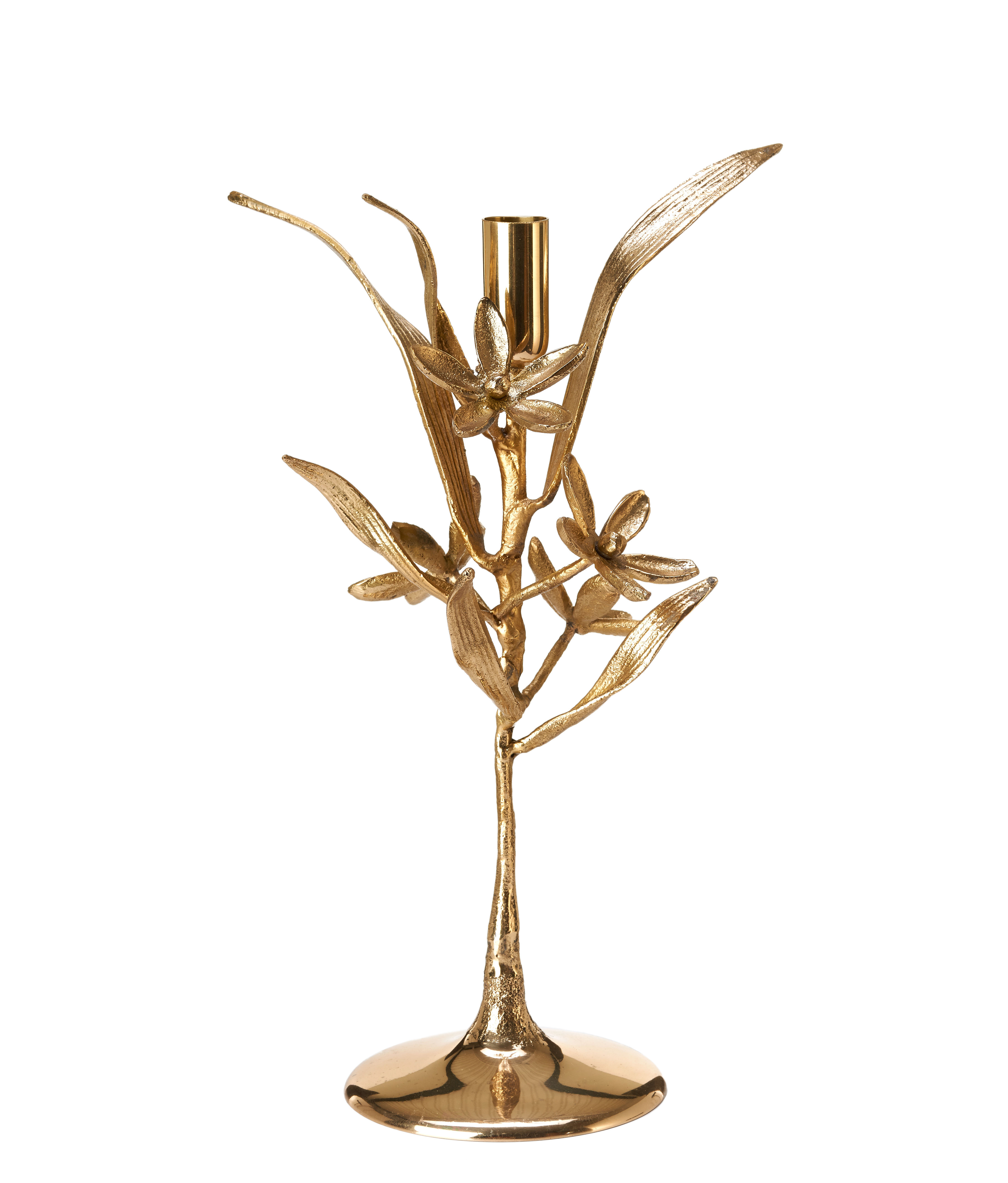 Decoration - Candles & Candle Holders - Bergamote Candle stick - / Brass by Pols Potten - Bergamot / Gold - Brass