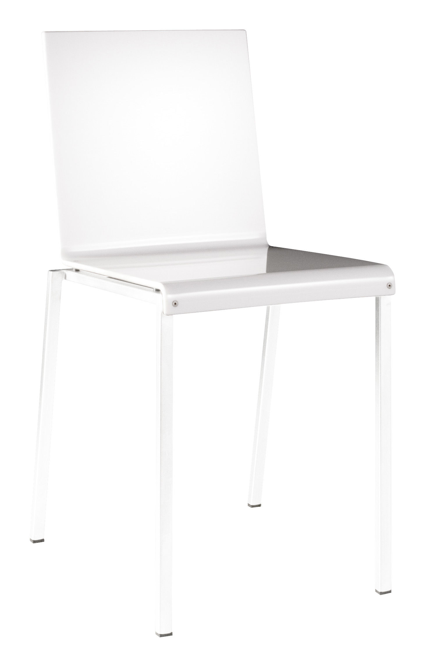Furniture - Chairs - Bianca Chair - Glossy resine & metal legs by Zeus - Semiopaque white frame / Glossy white seat - Acrylic resin, Steel