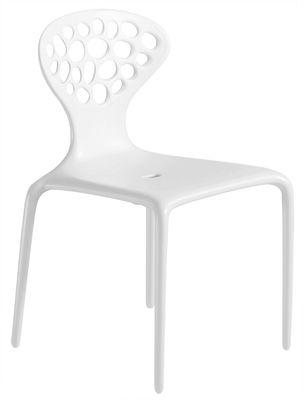 Chaise empilable Supernatural / Plastique - Moroso blanc en matière plastique