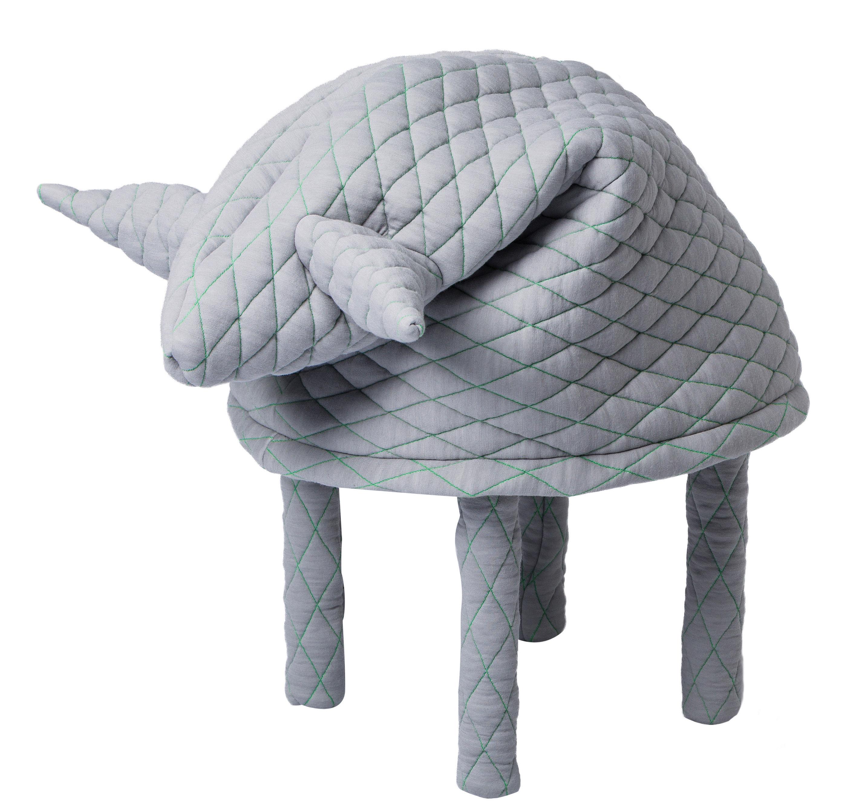 Möbel - Möbel für Kinder - Petstools Fin / Mouton Hocker Hocker - Petite Friture - Schaf / hellgrau - Gewebe, Holz, Polyesterfaser