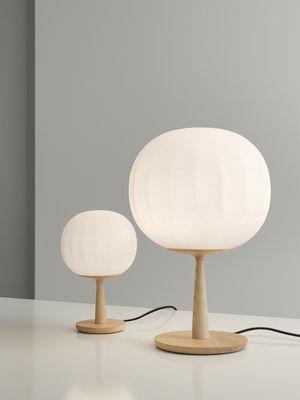 Lampada Da Tavolo Lita Di Luceplan Bianco Legno Naturale Made In Design