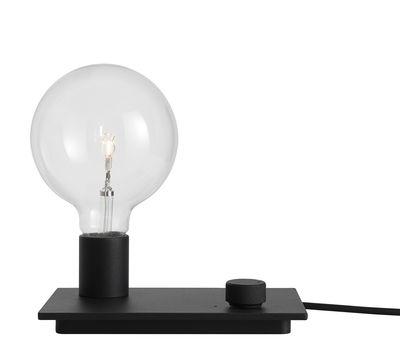 Luminaire - Lampes de table - Lampe de table Control / Métal - Variateur - Muuto - Noir - Fonte d'aluminium