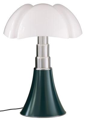 Lampe de table Pipistrello LED / H 66 à 86 cm - Martinelli Luce blanc,vert agave en métal