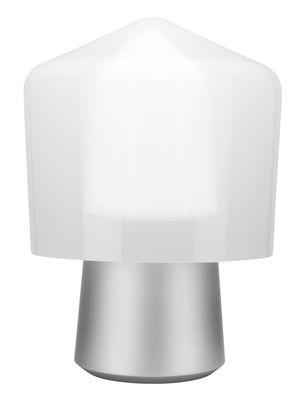 Lampe de table Tip Top / Métal & verre soufflé - H 40 cm - La Chance aluminium,blanc opalin en métal