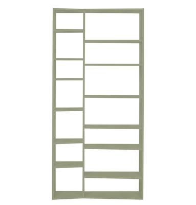 Arredamento - Scaffali e librerie - Libreria New York 001 / L 108 x H 224 cm - POP UP HOME - Grigio - Agglomerato verniciato