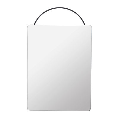 Miroir mural Adorn / L 35 x H 53 cm - Ferm Living noir en métal/verre