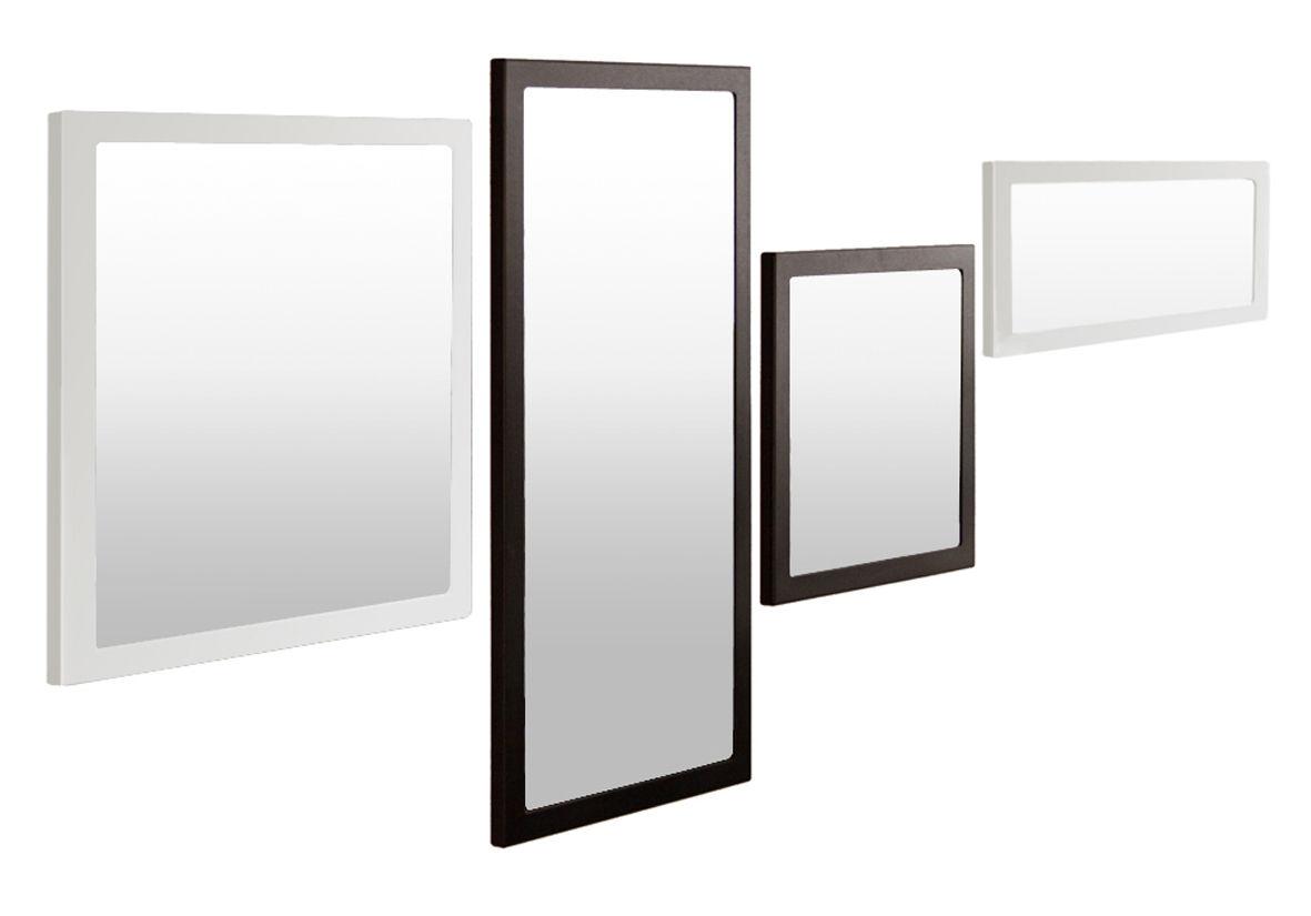 Miroir mural little frame zeus blanc demi opaque l 45 x h 90 made in design for Miroir mural original