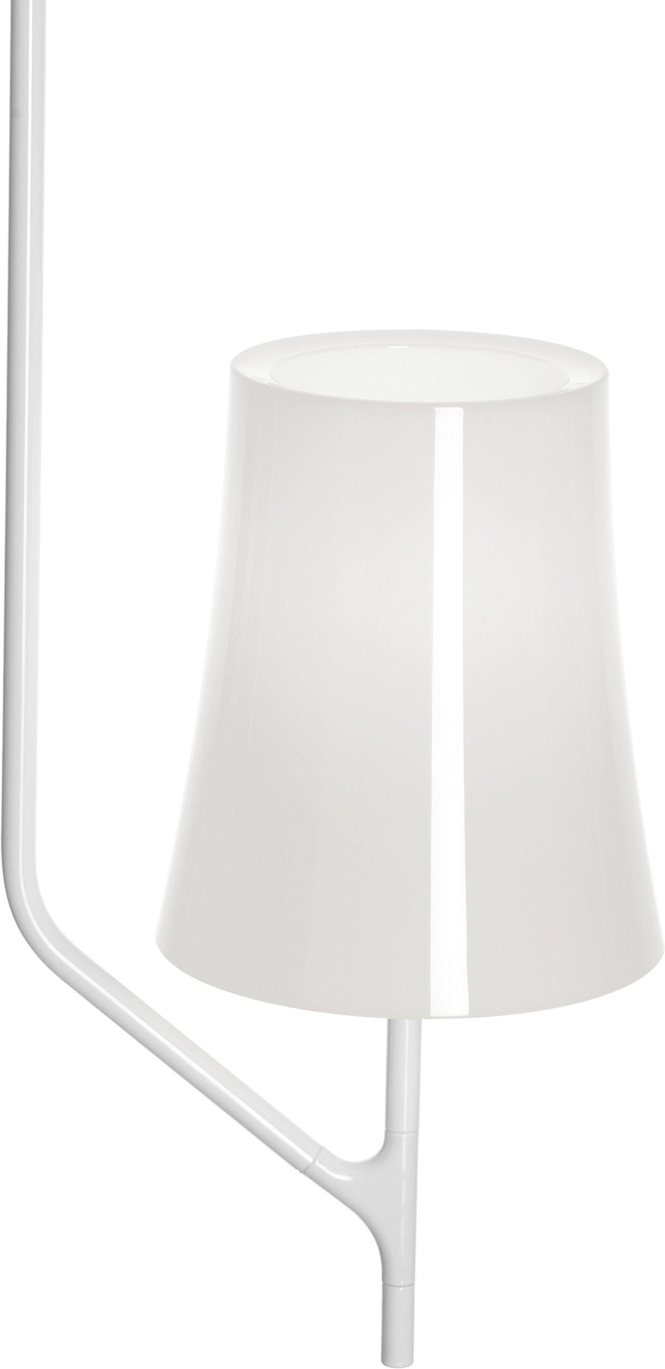 Leuchten - Pendelleuchten - Birdie Pendelleuchte 1 Arm - feste Höhe - Foscarini - 1 Arm - Weiß - klarlackbeschichteter rostfreier Stahl, Polykarbonat