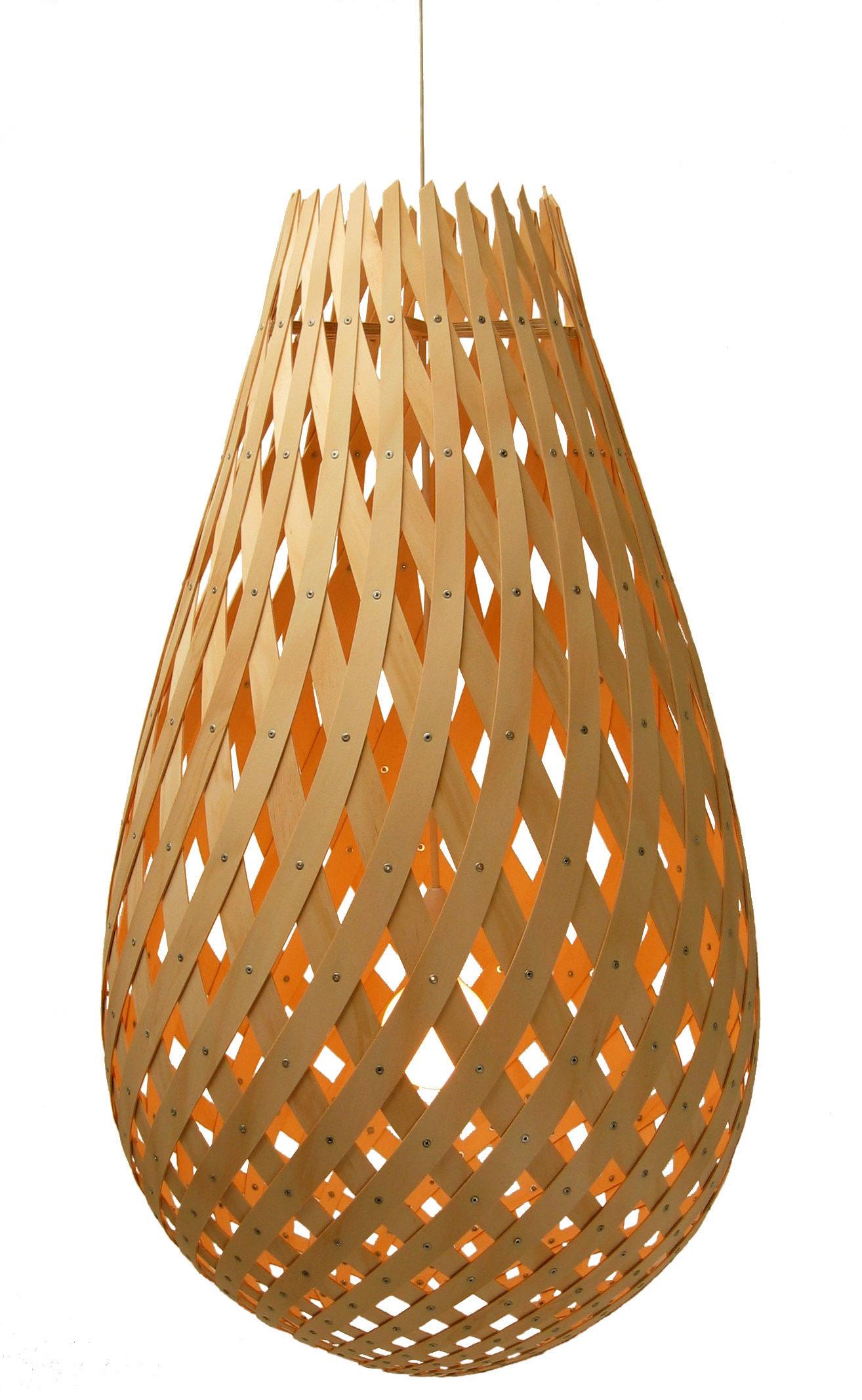 Leuchten - Pendelleuchten - Koura Pendelleuchte Ø 52 cm - David Trubridge - Holz natur - Kiefernfurnier