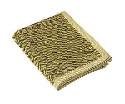 Decoration - Bedding & Bath Towels - Ripple Plaid - 115 x 180 cm by Muuto - Yellow - Cotton