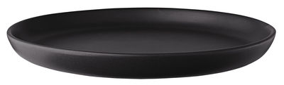 Tableware - Plates - Nordic kitchen Plate - / Ø 22 cm - Sandstone by Eva Solo - Ø 22 cm / Mat black - Sandstone