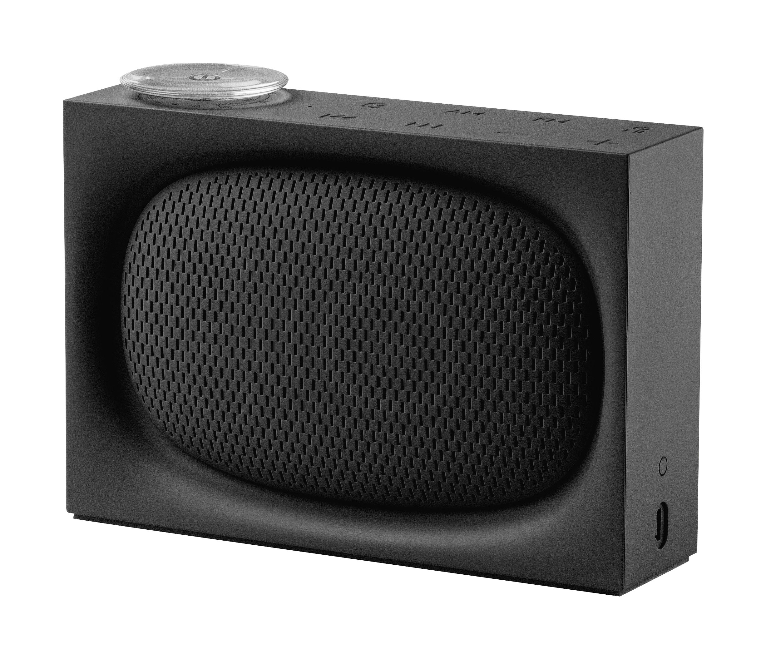 Accessori moda - Radio e Sveglie - Radio senza fili Ona / Altoparlante bluetooth - Ricarica USB - Lexon - Nero - ABS