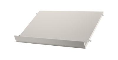 Möbel - Regale und Bücherregale - String System Regal Holz / Zeitschriftenhalter & Schuhständer - L 58 cm - String Furniture - Beige - lackierte Holzfaserplatte