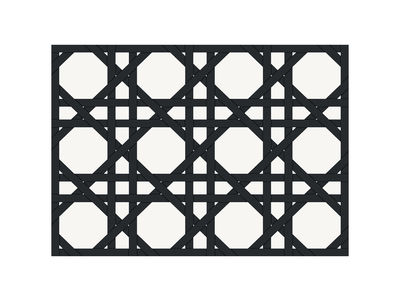 Set de table Cannage / 35 x 49 cm- Vinyle - PÔDEVACHE noir en matière plastique