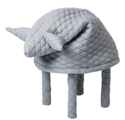 Arredamento - Mobili per bambini - Sgabello Petstools Fin / Mouton - Sgabello di Petite Friture - Pecora / Grigio chiaro - Legno, Poliestere, Tessuto