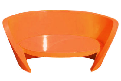 Image of Sofà Rap - versione laccata di Slide - Arancione laccato - Materiale plastico