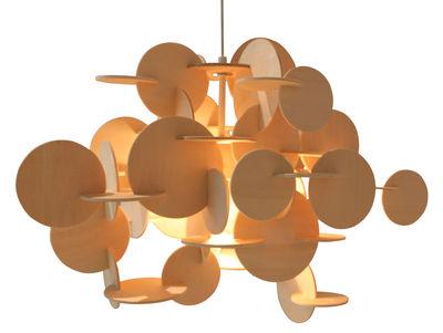 Illuminazione - Lampadari - Sospensione Bau Large - H 49 cm di Normann Copenhagen - Legno naturale - H 48 cm - Pino