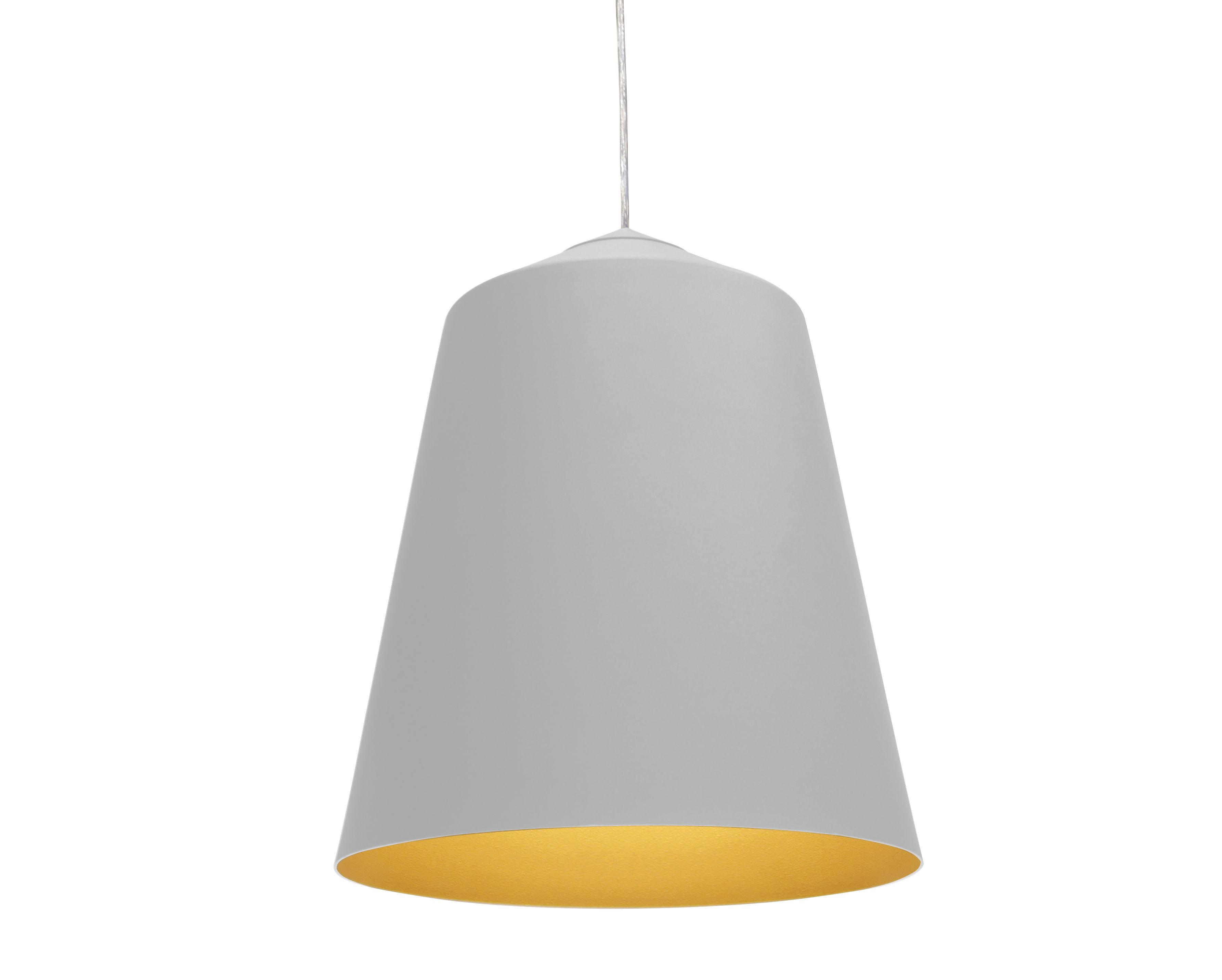 Illuminazione - Lampadari - Sospensione Circus Medium - Ø 56 x H 31 cm di Innermost - Bianco opaco / Interno dorato - Alluminio
