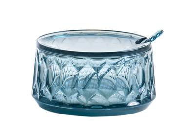 Sucrier Jellies Family / Avec cuillère - Kartell bleu ciel en matière plastique