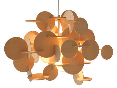 Luminaire - Suspensions - Suspension Bau Large / H 48 cm - Normann Copenhagen - Bois naturel - Pin