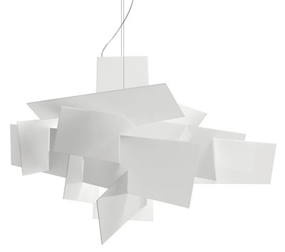 Suspension Big Bang LED / Dimmable - Ø 96 cm - Foscarini blanc en matière plastique