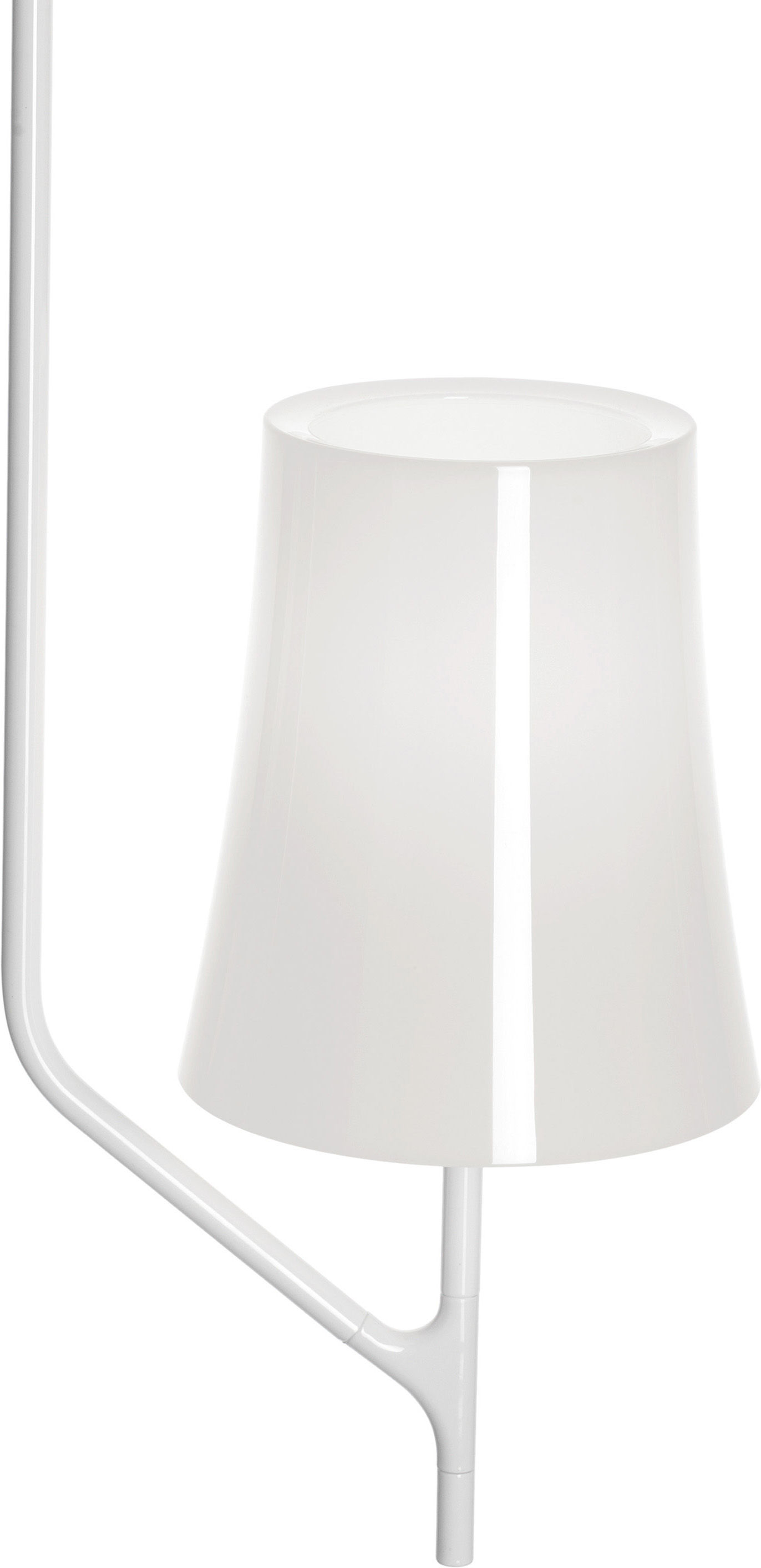 Luminaire - Suspensions - Suspension Birdie / 1 bras - Foscarini - 1 bras / Blanc - Acier inoxydable verni, Polycarbonate