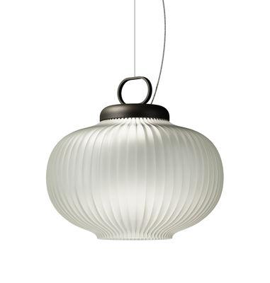 Suspension Kanji LED / LED - Ø 43 x H 39 cm - Fontana Arte blanc en verre