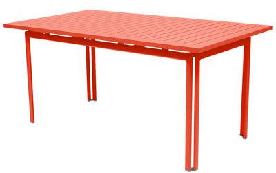 Table Costa / 160 x 80 cm - Fermob capucine en métal