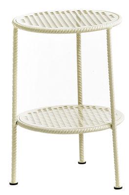 Table d'appoint Work is Over / Métal - Ø 37 cm - Diesel with Moroso blanc/beige en métal