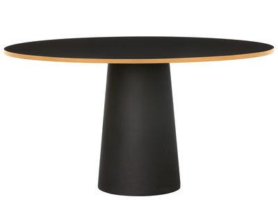 Table ronde Container / Ø 140 x H 74 cm - Moooi noir en matière plastique/bois