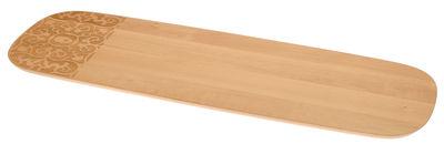 Tischkultur - Tabletts - Dressed in Wood Tablett / flach - 62 x 20 cm - Alessi - Holz natur - Buchenfurnier