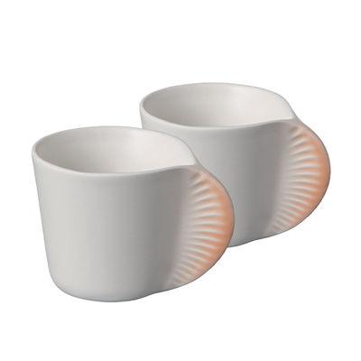 Tasse à café Morphose / Set de 2 - Ibride orange en céramique