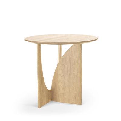 Arredamento - Tavolini  - Tavolino d'appoggio Geometric - / Rovere massello - Ø 51 cm di Ethnicraft - Rovere - Rovere massello