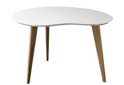 Arredamento - Tavolini  - Tavolino Lalinde - a forma di fagiolo - Small / Gambe in legno di Sentou Edition - Bianco / Gambe legno - MDF, Rovere verniciato