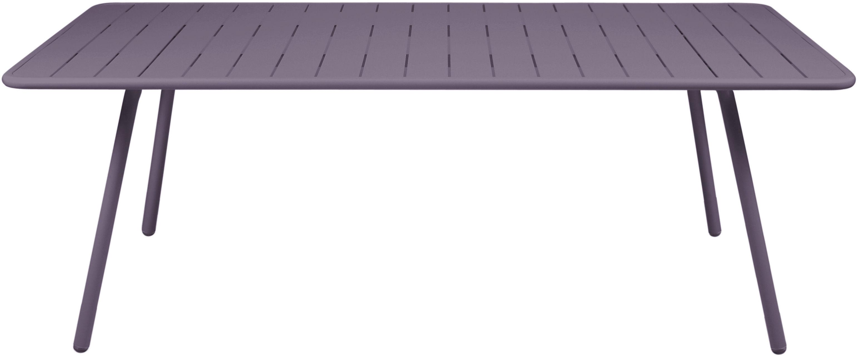 Life Style - Tavolo rettangolare Luxembourg - / 8 persone - L 207 cm di Fermob - Prugna - Alluminio laccato