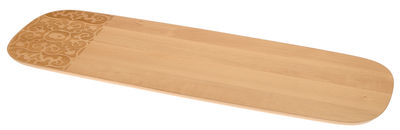 Tableware - Trays - Dressed in Wood Tray - 62 x 20 cm by Alessi - Natural wood - Beechwood