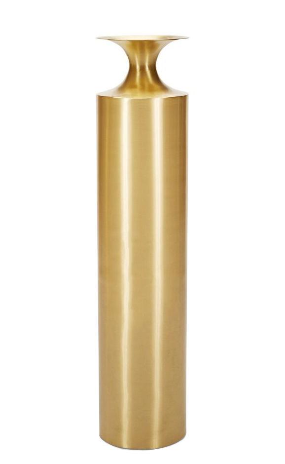 Déco - Vases - Vase Beat Vessel Tall / Ø 25 x H 109 cm - Laiton - Tom Dixon - Tall /  Laiton - Laiton massif