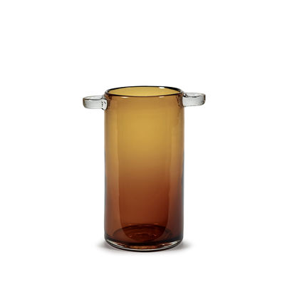 Déco - Vases - Vase Wind & Fire / Ø 11,5 x H 24 cm - Serax - Ambre - Verre