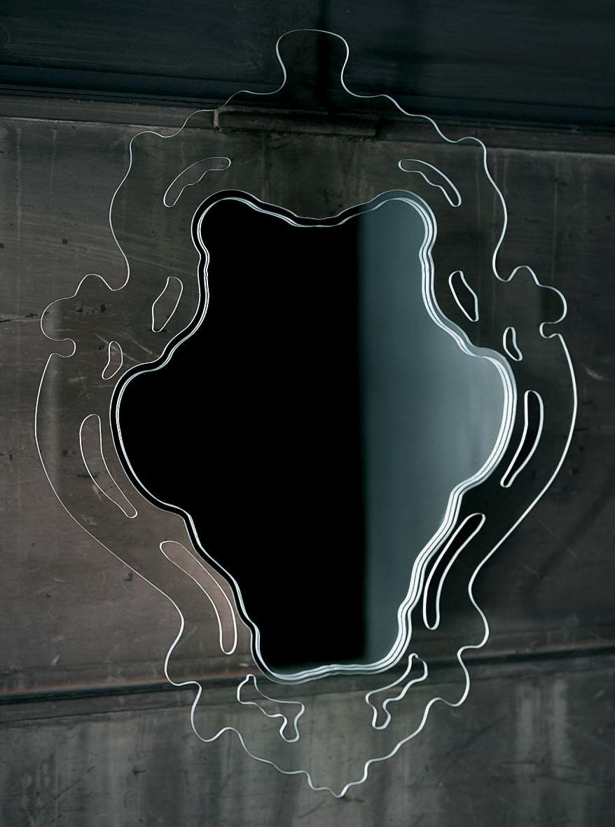 Furniture - Mirrors - Rokoko Wall mirror by Glas Italia - Transparent - Vertical - Glass