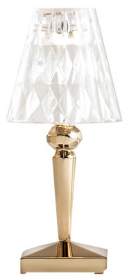 Lighting - Table Lamps - Battery LED Wireless lamp - Wireless - USB - Metallised by Kartell - Gold - PMMA