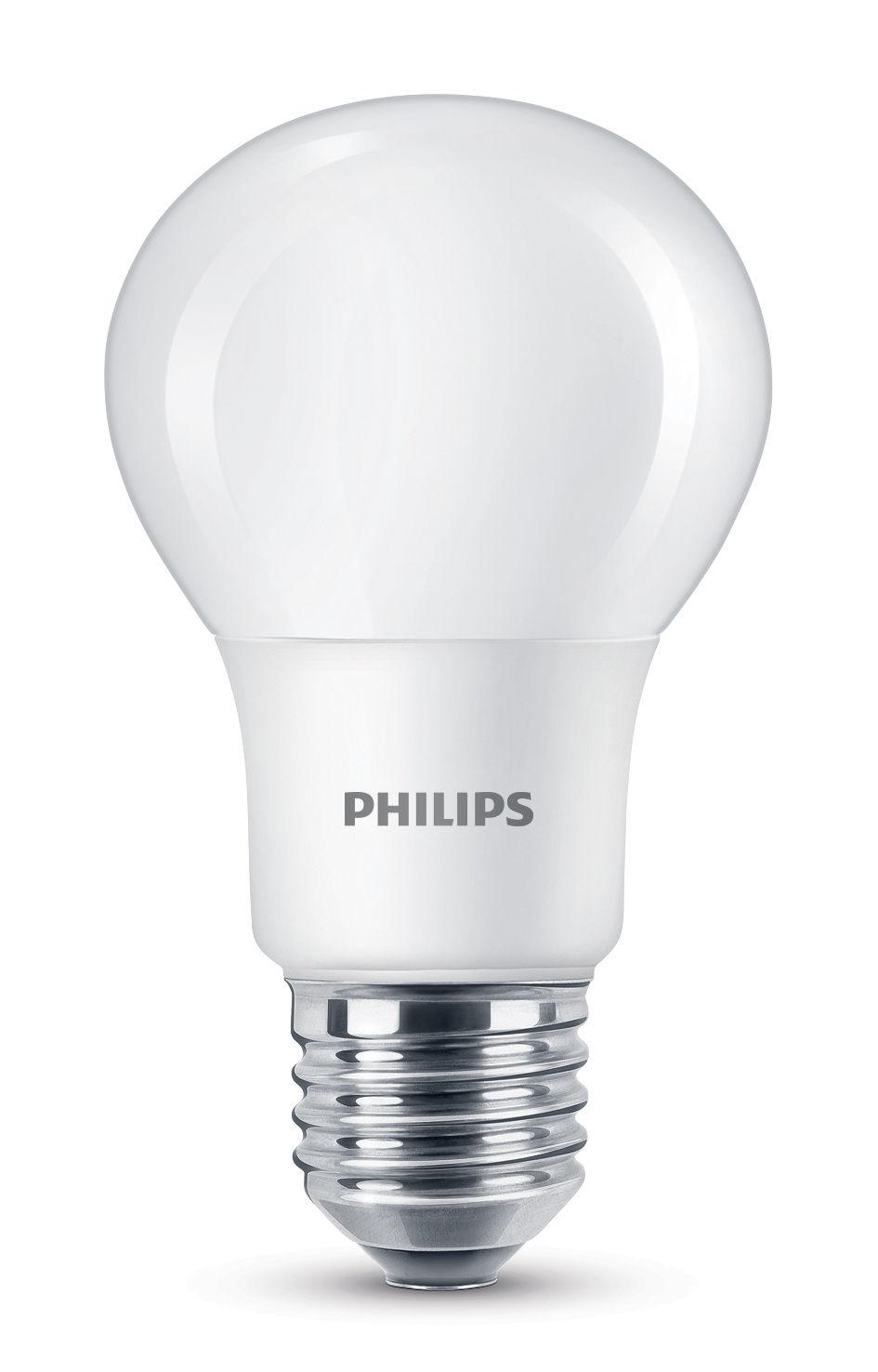 Luminaire - Ampoules et accessoires - Ampoule LED E27 Standard Dépolie / 7,5W (60W) - 806 lumen - Philips - 7,5W (60W) - Métal, Verre dépoli