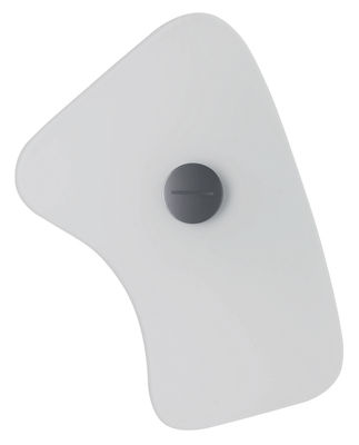 Applique avec prise Bit 5 - Foscarini blanc en verre