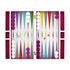 Rainbow Backgammon-Set / Lackierter Kasten - Jonathan Adler
