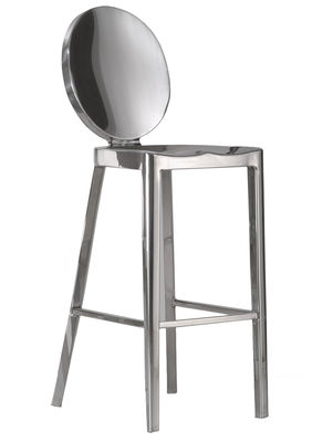 Furniture - Bar Stools - Kong Bar chair - H 60 cm by Emeco - Polished aluminium - Recycled polished aluminium