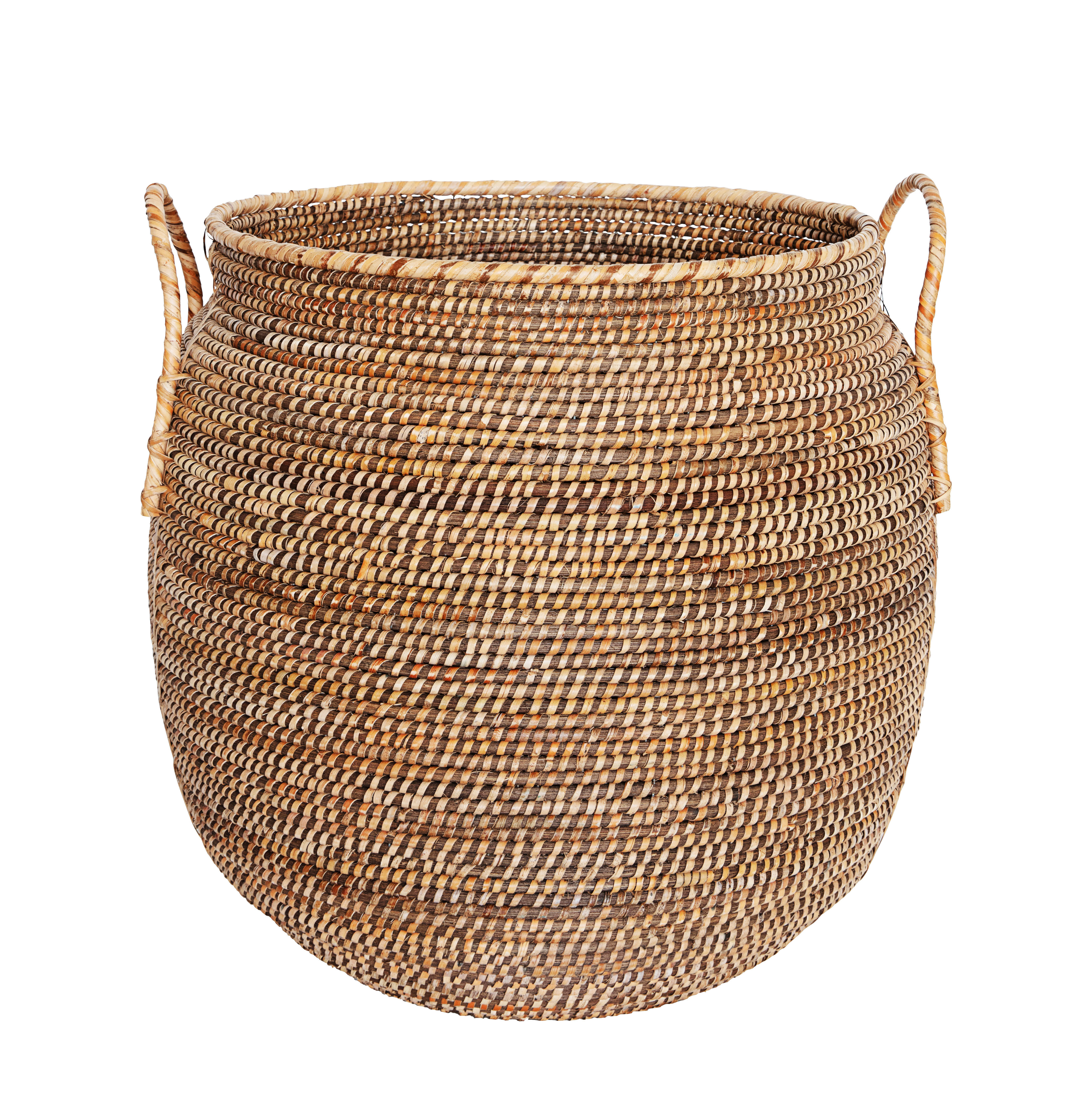 Decoration - Boxes & Baskets - Azeema Basket - / Rattan - Ø 53 x H 64 cm without lid by House Doctor - Ø 53 x H 64 cm / Rattan - Rattan