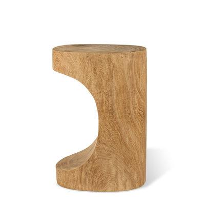 Möbel - Couchtische - Arch Beistelltisch / Beistelltisch - Handgeschnitztes Holz - Pols Potten - Naturholz - Dimbholz