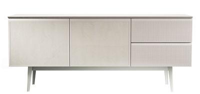 Buffet Voltaire / L 180 cm - 2 portes cuir - Diesel with Moroso blanc,beige,tourterelle en métal